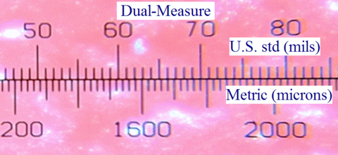 view through the Dual-Measure reticle